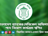 Joining the post of Medical Officer of Bangladesh Bank has been suspended